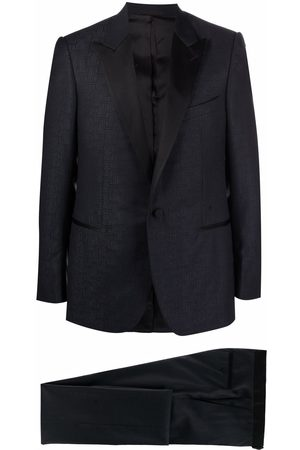 Lanvin Jacquard-pattern single-breasted suit