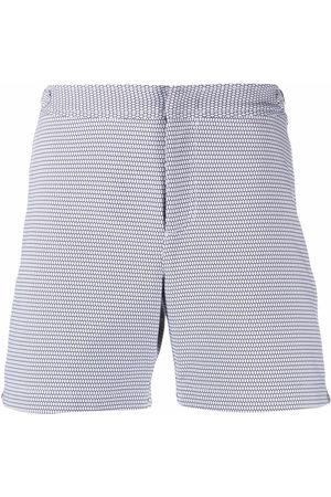 Orlebar Brown Jacquard pattern swim shorts
