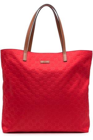 Gucci Monogram leather tote bag