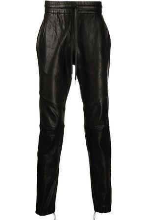 JOHN ELLIOTT Drawstring leather trousers