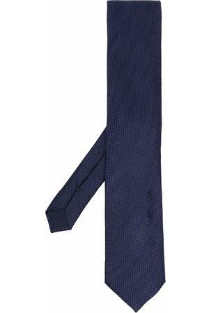 corneliani Geometric-embroidered silk tie