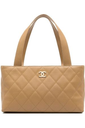 CHANEL 2002 CC diamond-quilted tote bag