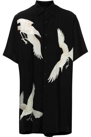 YOHJI YAMAMOTO Eagle-print short-sleeve fluid shirt