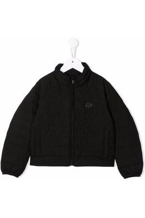 Emporio Armani Logo-patch bomber jacket