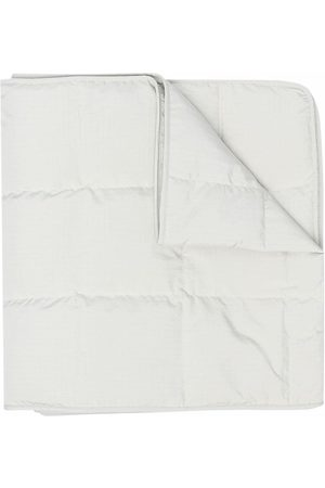 Jil Sander Logo-patch quilted scarf