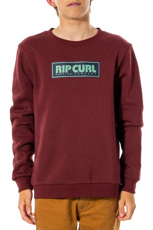 Rip Curl Boys Jumpers - Surf Revival Box Crew Boys Sweater - Maroon