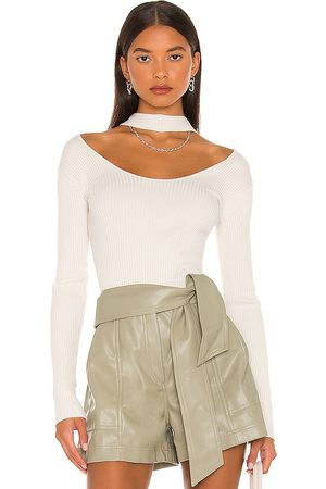 JONATHAN SIMKHAI Women Halterneck Tops - Leah Twisted Cable Halter Top in . Size XS, S, M.