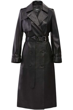 Mackage Women Trench Coats - Gael Leather Trench Coat with Belt in - Women - L