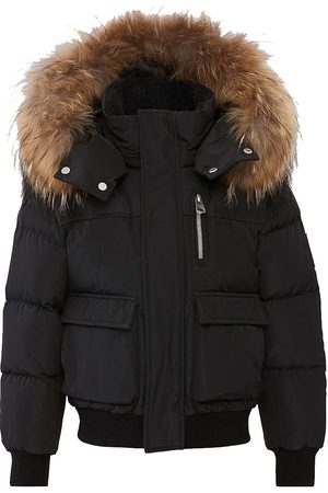 Mackage Bomber Jackets - Rolly Down Bomber with Natural Fur Trim Hood in - Unisex - 10