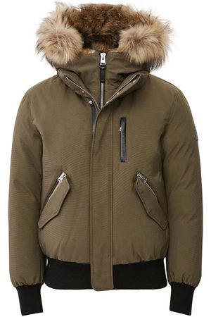 Mackage Men Bomber Jackets - Dixon 2-in-1 Down Bomber with Hooded Bib and Natural Fur in - Men - 36