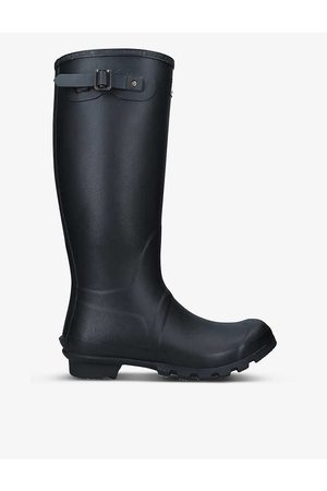 Barbour Bede branded rubber wellington boots