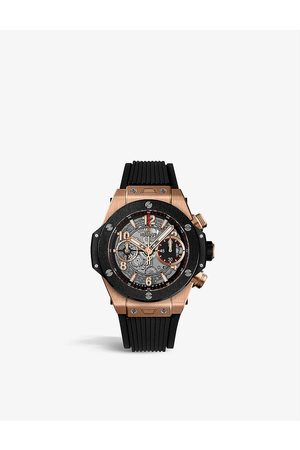 HUBLOT 5Z4MR0 Big Bang Unico 18kt rose gold sapphire crystal watch