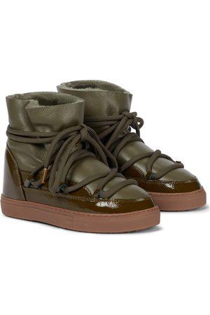 INUIKII Leather-paneled snow boots