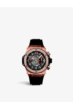 HUBLOT 765JT9 Big Bang Unico 18k rose gold 1.1ct diamond and sapphire crystal watch