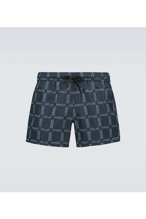 COMMAS Checked printed swim shorts
