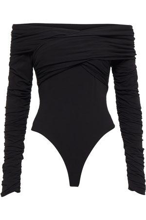 Khaite Ruched cotton bodysuit
