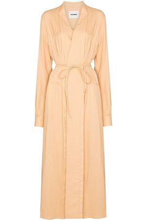 Jil Sander Women Midi Dresses - Belted-waist midi dress - Neutrals