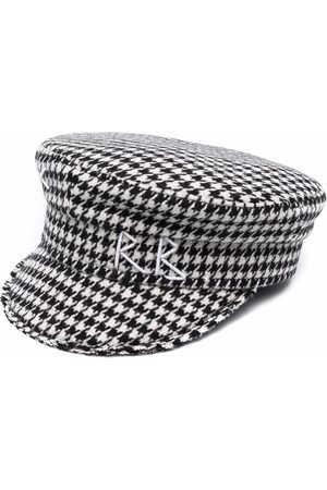 Ruslan Baginskiy Boys Hats - Houndstooth print baker boy hat