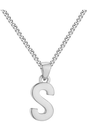 The Love Silver Collection Sterling Alphabet Initial Pendant Adjustable Necklace