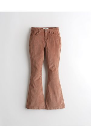Hollister Girls Trousers - High-Rise Corduroy Flare Pants