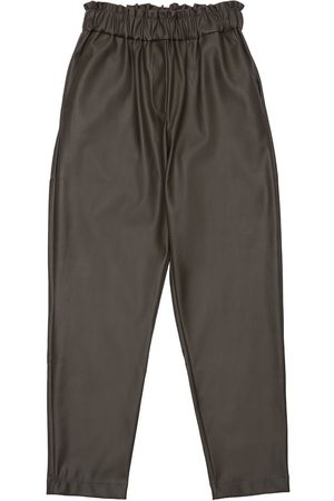 Unlabel Girls Trousers - Faux Leather Pants