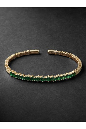 Suzanne Kalan Men Bracelets - Gold Emerald Cuff