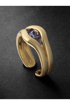 Fernando Jorge Trillion 18-Karat Iolite Ring