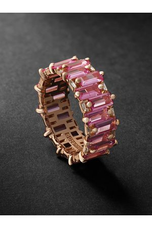 Suzanne Kalan Rose Gold, Sapphire and Diamond Ring