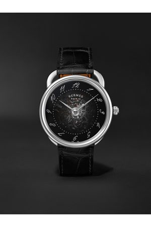 Hermès Arceau Squelette Automatic 40mm Stainless Steel and Alligator Watch, Ref. No. W055537WW00