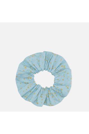 Ganni Women Hair Accessories - Women's Floral Print Cotton Scrunchie - Corydalis