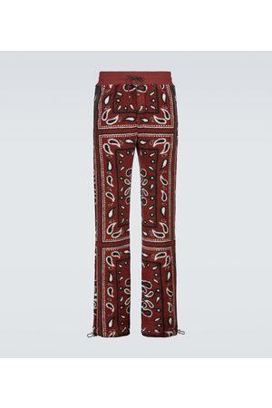 AMIRI Men Sports Trousers - Bandana printed fleece sweatpants