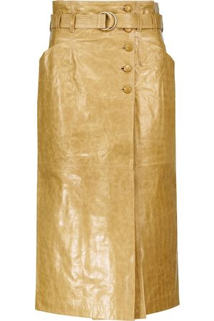ULLA JOHNSON Sonia leather midi skirt