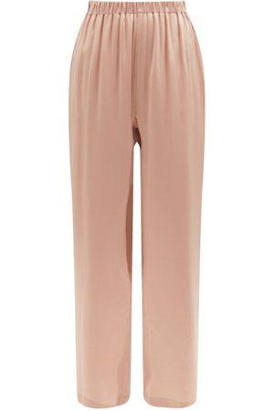 Araks Emman Silk-satin Wide-leg Pyjama Trousers - Womens - Nude