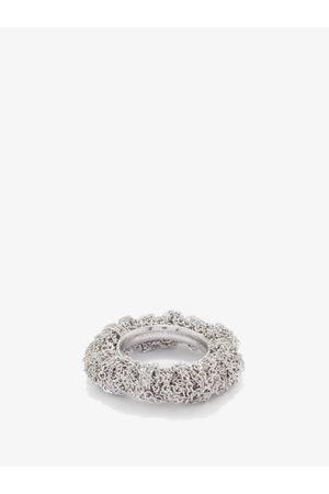 Bottega Veneta Women Rings - Tangle Crystal-embellished Sterling- Ring - Womens