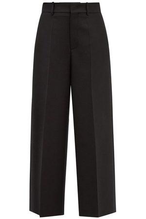 VALENTINO High-rise Wool-blend Straight-leg Trousers - Womens