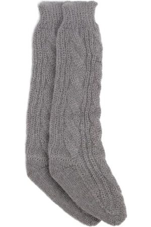 Cecilie Bahnsen Gwendolyn Cable-knit Mohair-blend Socks - Womens