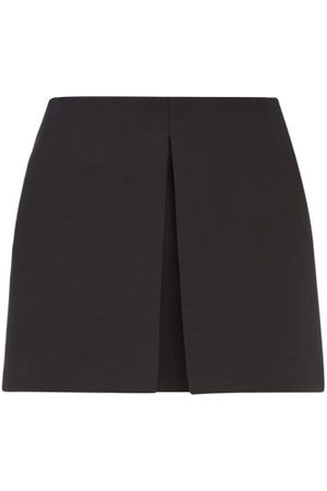 VALENTINO Women Shorts - Crepe Couture Knife-pleat Wool-blend Skort - Womens