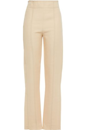 Acne Studios Woman Whipstitched Shantung Straight-leg Pants Cream Size 34
