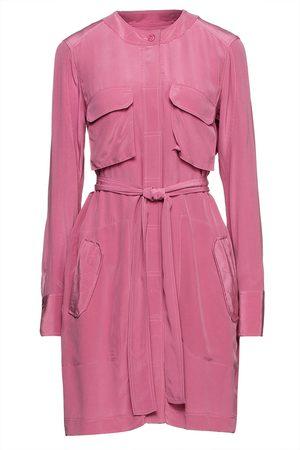 Equipment Woman Belted Silk Crepe De Chine Mini Dress Size 10
