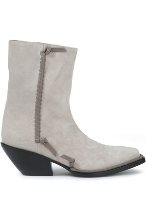 Acne Studios Women Ankle Boots - Woman Breanna Leather-trimmed Suede Ankle Boots Size 38