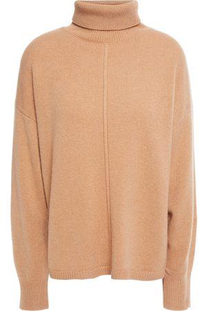 N.PEAL Women Turtlenecks - Woman Cashmere Turtleneck Sweater Camel Size L
