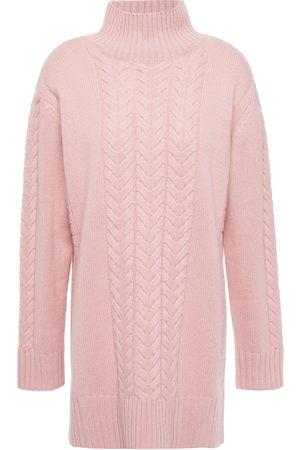 N.PEAL Women Turtlenecks - Woman Cable-knit Cashmere Turtleneck Sweater Baby Size L