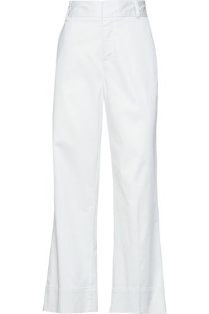 ATM Anthony Thomas Melillo Women Trousers - Woman Cropped Cotton-blend Twill Straight-leg Pants Sky Size 10