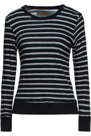 ENZA COSTA Women Tops - Woman Striped Cotton And Cashmere-blend Jersey Top Size L