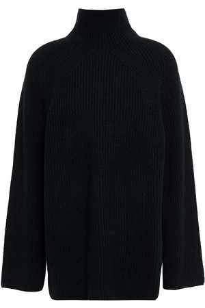N.PEAL Woman Ribbed Cashmere Turtleneck Sweater Size L