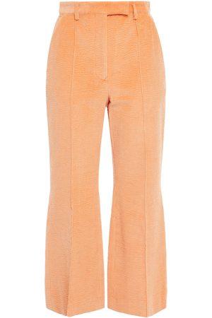 Acne Studios Woman Cropped Textured Cotton-blend Corduroy Flared Pants Pastel Size 40