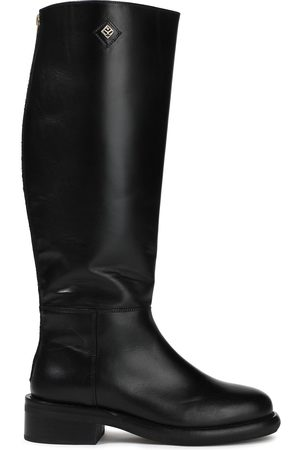 Sandro Women High Leg Boots - Woman Leather Knee Boots Size 36