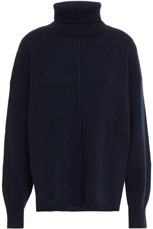 N.PEAL Woman Cashmere Turtleneck Sweater Navy Size L