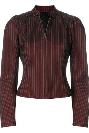 John Galliano Women Blouses - Pinstriped zipped blouse