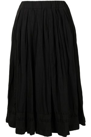 CASEY CASEY Double Rideaux pleated midi-skirt